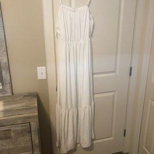 Club monaco maxi silk dress